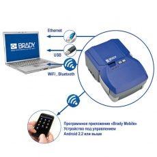Подключите принтер BMP51 с помощью проводных USB, Ethernet и беспроводных технологий WiFi, Bluetooth.