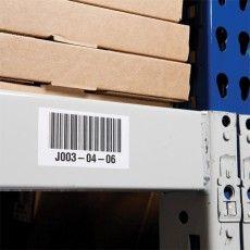 Складская этикетка Brady B-424 для кодовой маркировки на складе.