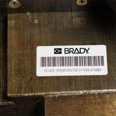 Этикетки наклейки из белого глянцевого полиэстра Brady B-483 для промышленной маркировки.