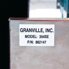 Промышленные самоклеющиеся полимерные этикетки B-488 для долговечной маркировки.